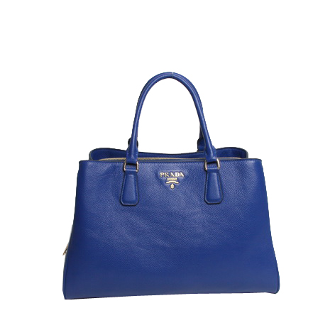 Prada Original Leather Tote Bag BR4743 Blue