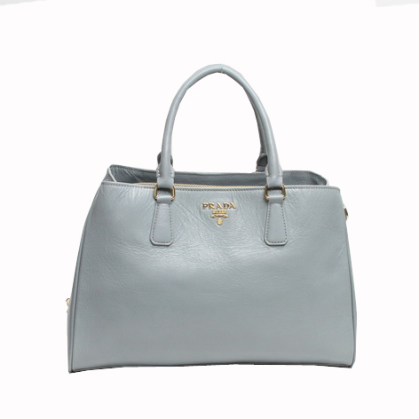 Prada Original Leather Tote Bag BR4743 Gray