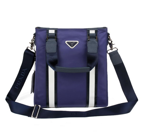 PRADA Tessuto Canvas Messenger Bag VA60034 Purple