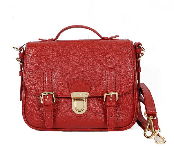 Prada Glace Calf Leather Flap Bag BN0963 Burgundy