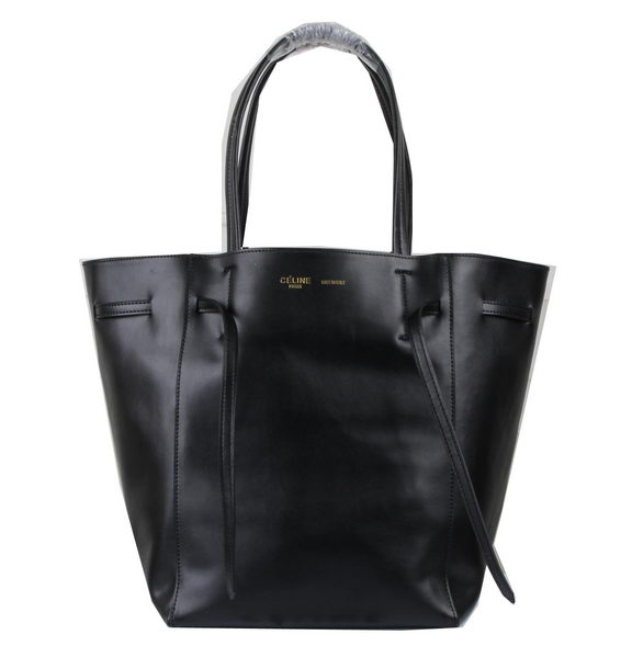 Celine Medium Cabas Phantom Bag Calfskin C3385 Black