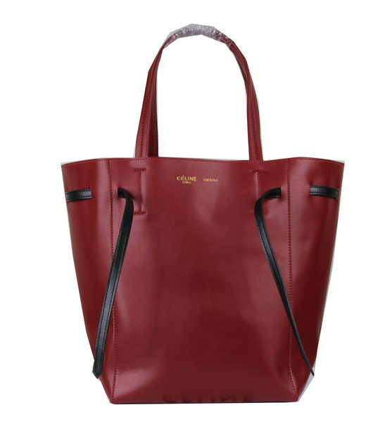 Celine Medium Cabas Phantom Bag Calfskin C3385 Burgundy