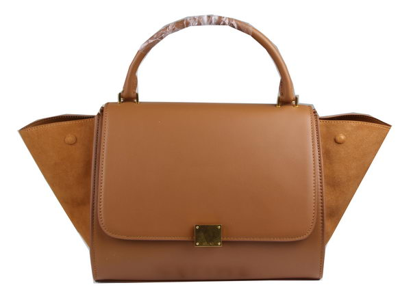 Celine Trapeze Bag Suede Leather C3342 Wheat