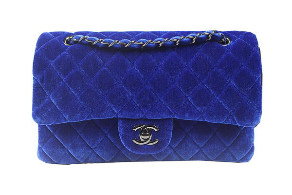 Chanel 2.55 Series Classic Flap Bag Original Nubuck Leather CF1112 Royal