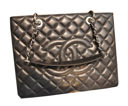 Chanel Classic Coco Bag Black GST Sheepskin Leather A50995 Silver
