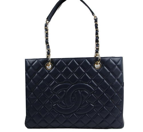Chanel Classic Coco Bag Royal GST Caviar Leather A50995 Gold