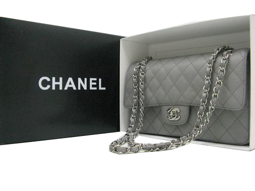 Chanel Classic Flap Bag 2.55 Series Original Cannage Pattern CHA1112 Grey