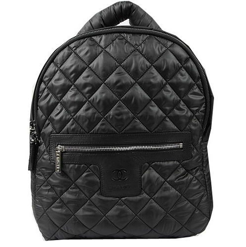 Chanel Coco Cocoon Backpack A9003 Black