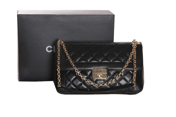 Chanel Flap Shoulder Bag Sheepskin Leather A1248 Black
