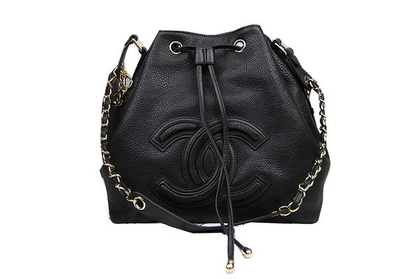 Chanel Hobo Shoulder Bag in Original Leather CHA50284 Black