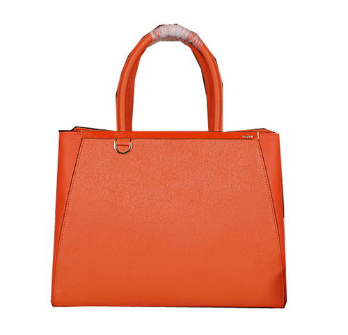 Fendi 2Jours Tote Bag Original Leather 8B8934L Orange