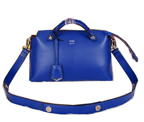 Fendi BY THE WAY Bag Calfskin Leather F2353 Blue