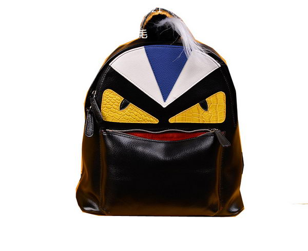 Fendi Selleria Backpacks Original Leather F2221 Black