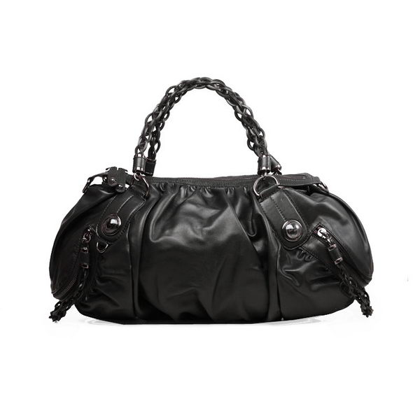 Gucci Calf Leather Large Tote Bag 338838 Black