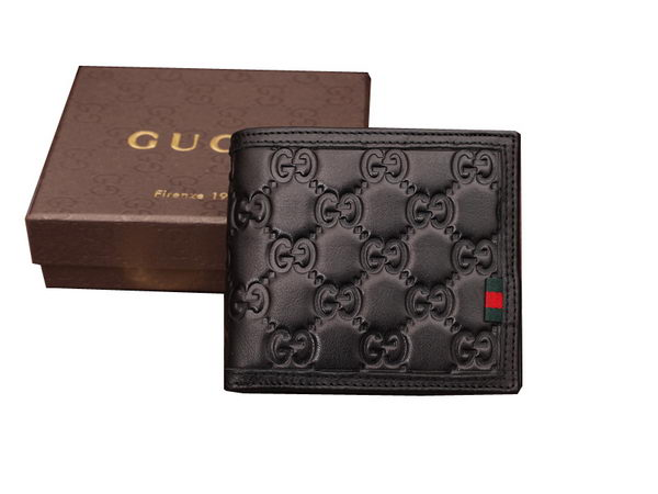 Gucci Guccissima Leather Bi-Fold Wallet 269363 Black