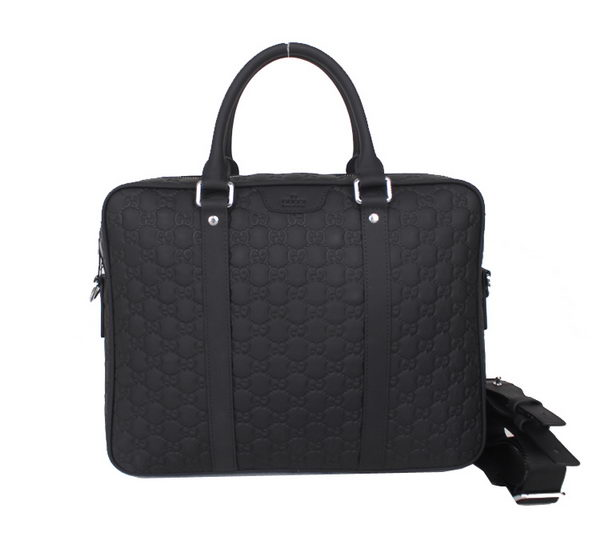 Gucci Guccissima Leather Business Briefcase 80512 Black