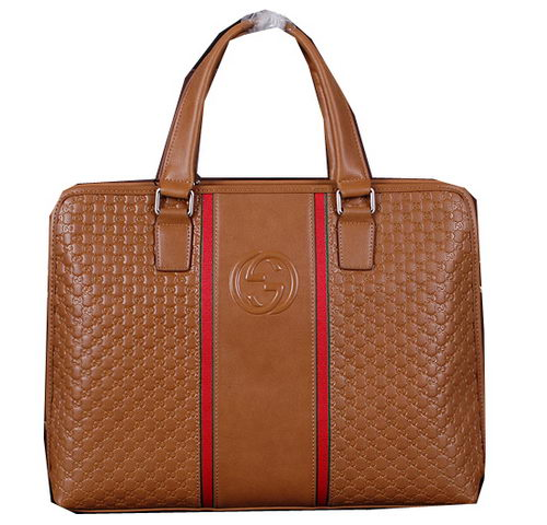 Gucci Guccissima Leather Business Briefcase G261 Wheat
