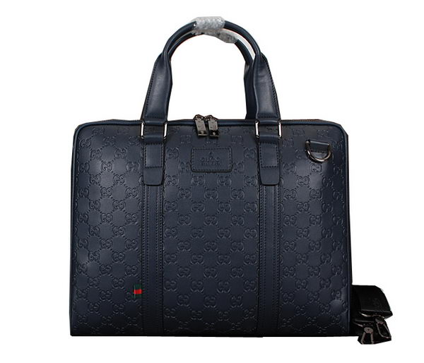 Gucci Guccissima Leather Business Briefcase M95821 RoyalBlue