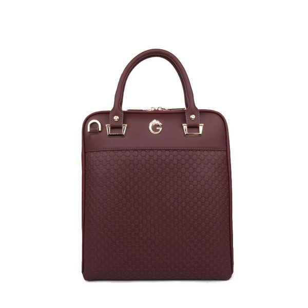 Gucci Guccissima Leather Business Tote Bag 30683 Burgundy