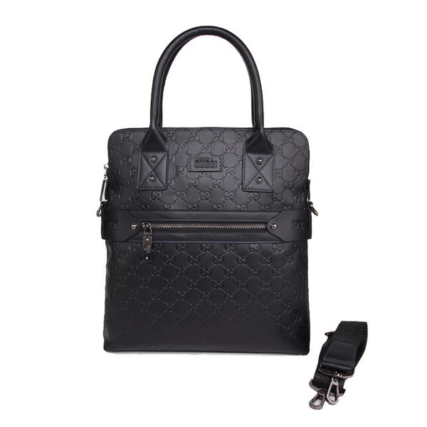 Gucci Guccissima Leather Business Tote Bag 65882 Black