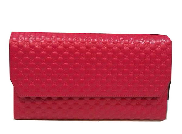 Gucci Guccissima Leather Continental Wallet 163252 Rose