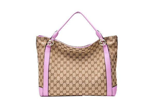 Gucci Miss GG Original GG Canvas Top Handle Bag 323675 Purple