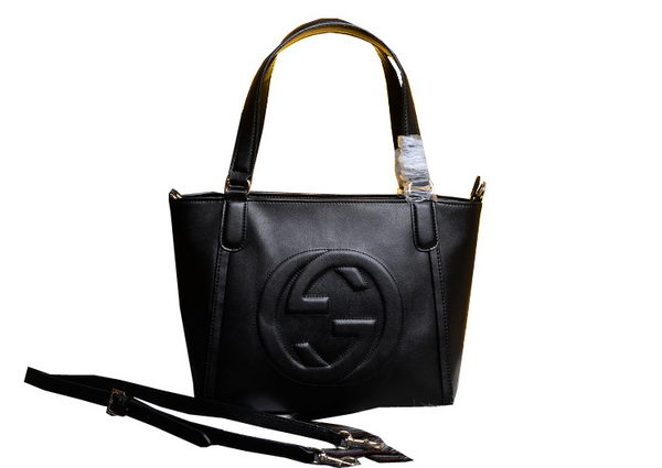 Gucci Soho Leather Top Handle Bag 369176 Black