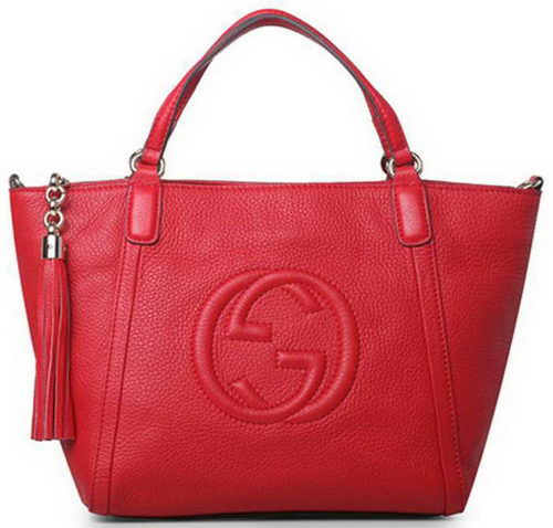 Gucci Soho Original Leather Top Handle Bag 369176 Red
