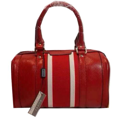 Gucci Vintage Leather Boston Bag 269876 Red