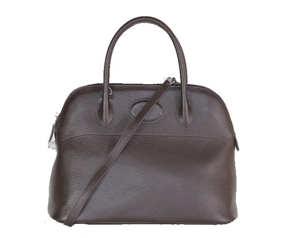 Hermes Bolide 37CM Calfskin Leather Tote Bags H509084 Brown