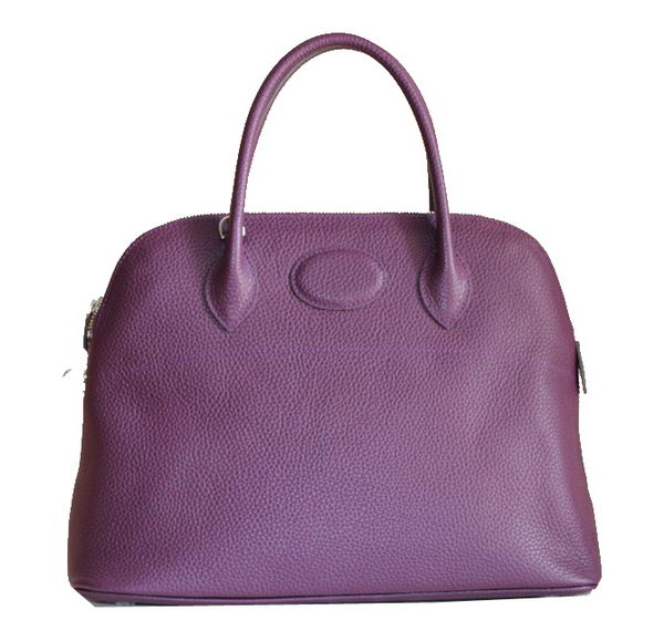 Hermes Bolide 37CM Calfskin Leather Tote Bags H509084 Purple