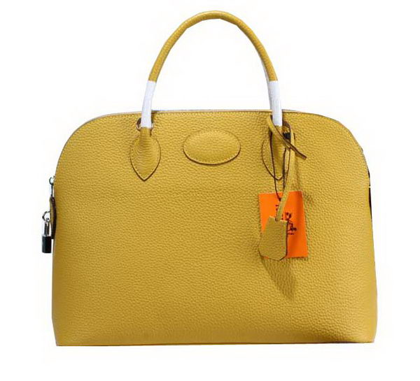 Hermes Bolide 37CM Calfskin Leather Tote Bags H509084 Yellow