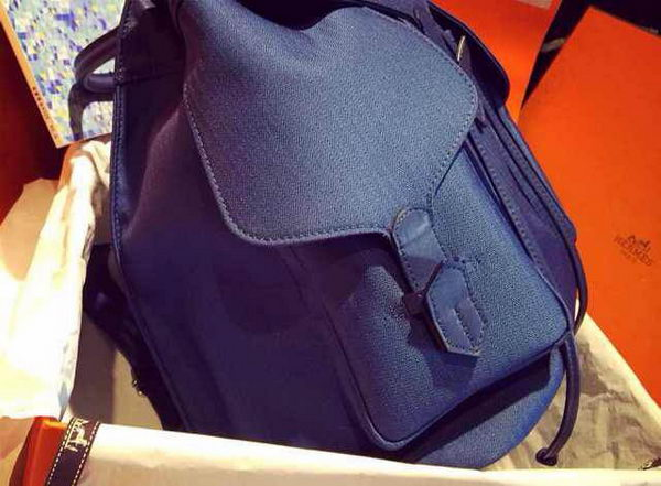 Hermes Canvas & Leather Backpack H1718 Royal