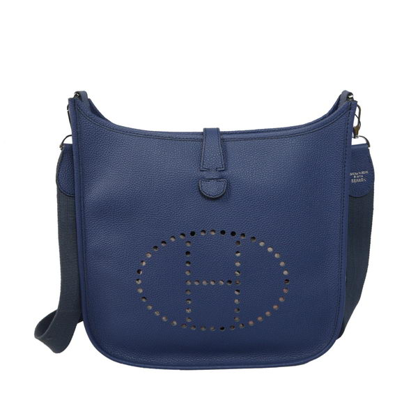 Hermes Evelyne Messenger Bag H1608 Dark Blue