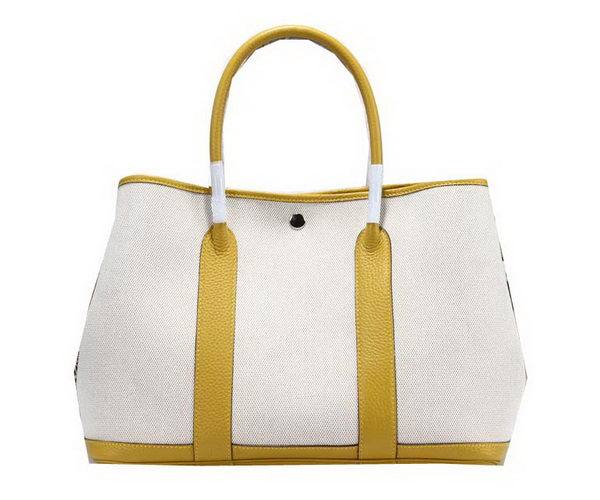 Hermes Garden Party 36cm Tote Bag Canvas Yellow