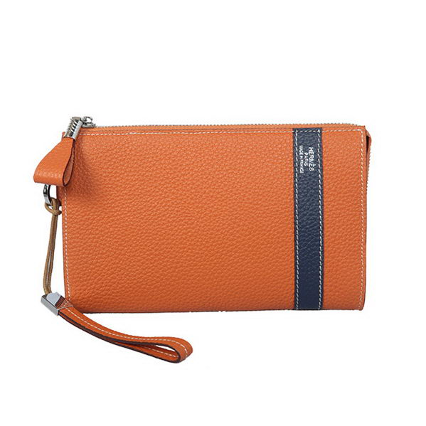 Hermes Grainy Leather Clutch H5809 Wheat