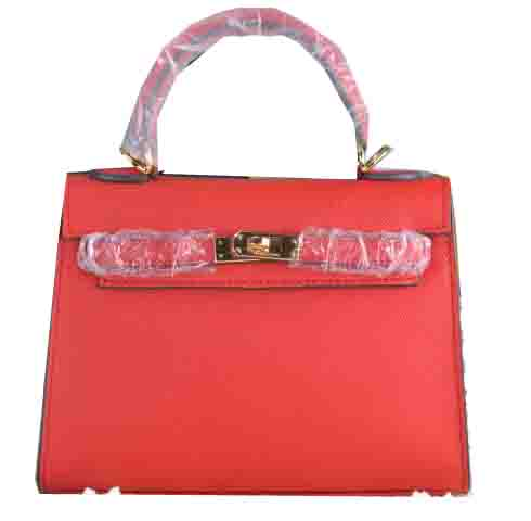 Hermes Kelly 22cm Tote Bag Calfskin Leather Red