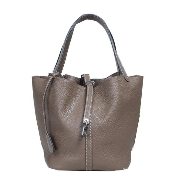 Hermes Picotin Lock MM Bag in Original Leather Dark Grey