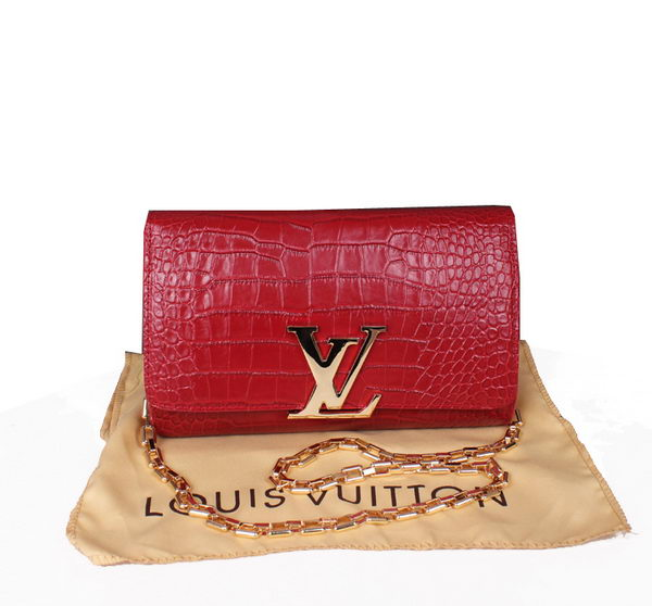 Louis Vuitton Croco Leather Chain Louise M94336 Red