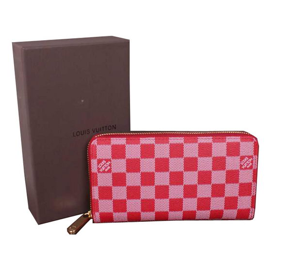 Louis Vuitton Damier Canvas Zippy Wallet M60017 Red