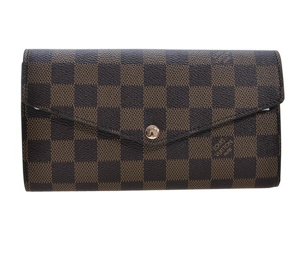 Louis Vuitton Damier Ebene Canvas Sarah Wallet M95150