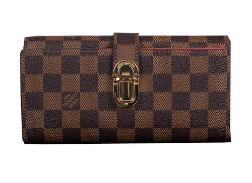 Louis Vuitton Damier Ebene Canvas Wallet M58288