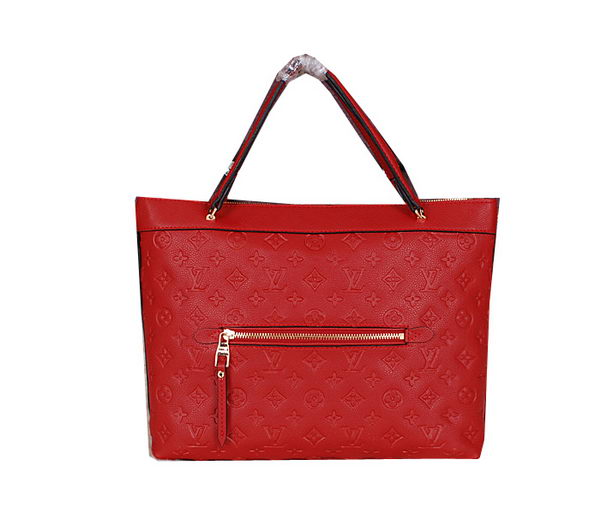 Louis Vuitton Monogram Empreinte Bastille MM Tote Bag M41164 Red