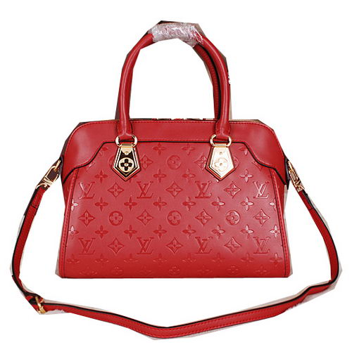 Louis Vuitton Monogram Empreinte Tote Bag M41809 Red