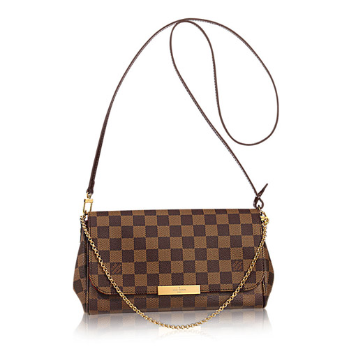 Louis Vuitton N41129 Damier Ebene Canvas Favorite MM Bag