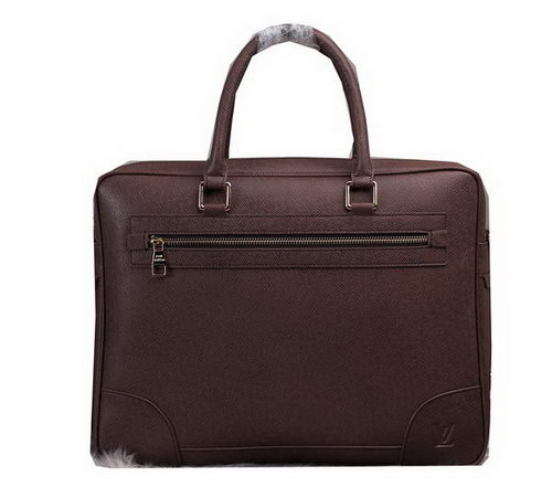 Louis Vuitton Taiga Leather Briefcase M80398 Brown