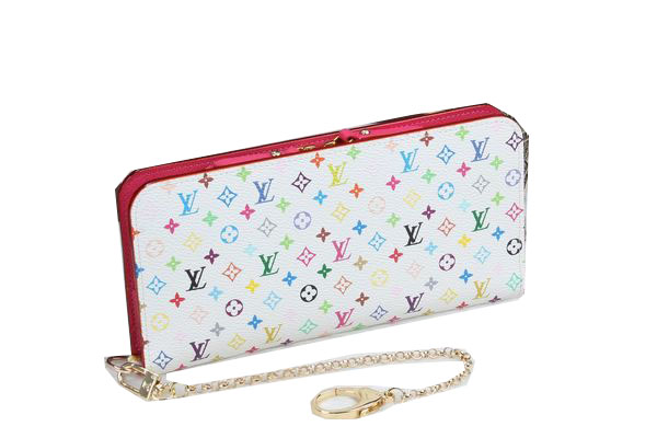 Louis Vuitton White Monogram Multicolore Insolite Wallet M66567 Rose