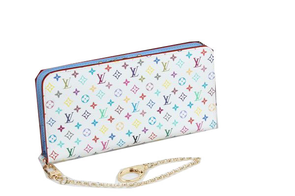 Louis Vuitton White Monogram Multicolore Insolite Wallet M66567 SkyBlue