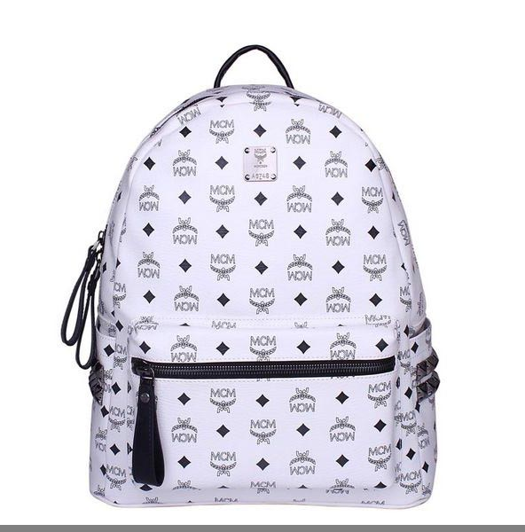 MCM Medium Stark Backpack MC2446 White