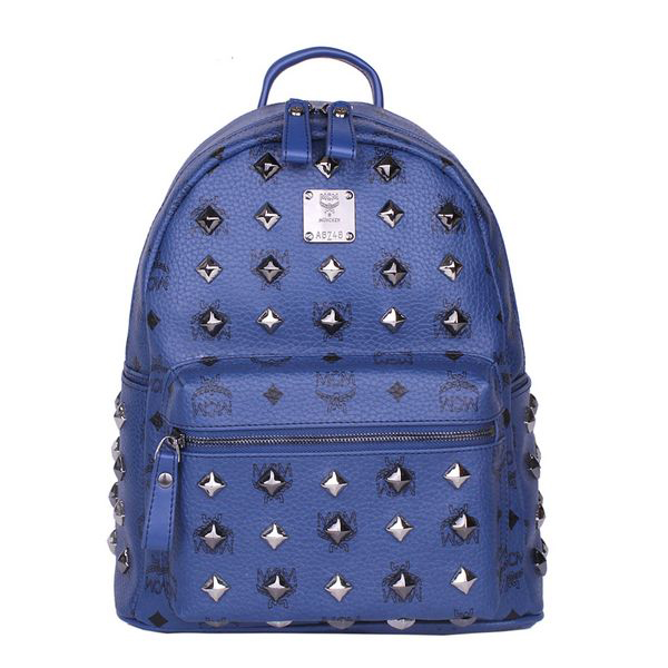 MCM Stark Studded Small Backpack MC2089S Royal